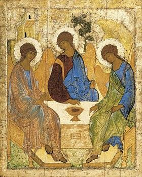 Les trois hôtes d'Abraham - Rublev