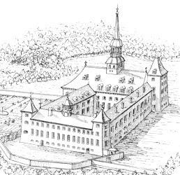 Abbaye en 1706