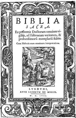 biblia sacra - 1558