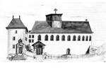 face ouest de l'église vers 1850