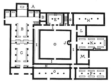 plan type d'un monastère